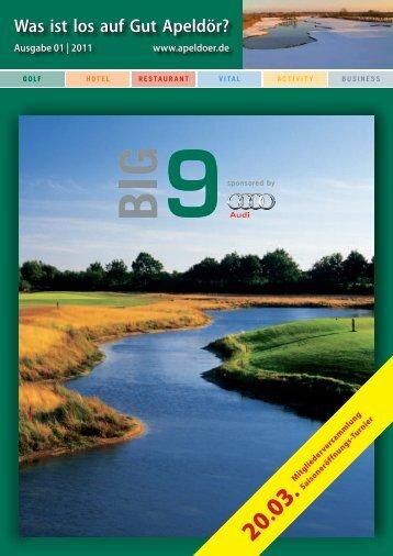 Ausgabe 01 | 2011 www.apeldoer.de - Golf Club Gut Apeldoer