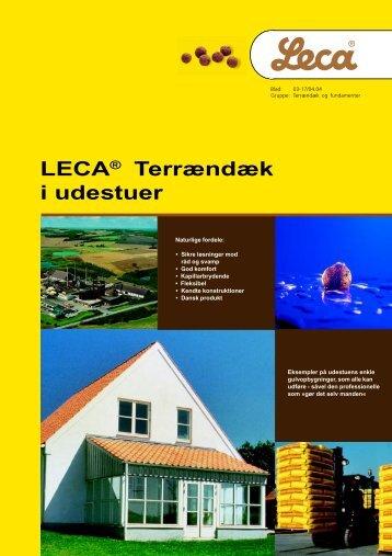 Leca® terrændæk i udestuer - Weber