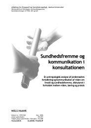 Sundhedsfremme og kommunikation i konsultationen