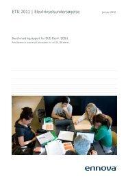 Benchmarkingrapport for EUD Ekskl. SOSU - Syddansk Erhvervsskole