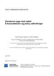 Danskerne syge med nettet: E-konsultationer og policy udfordringer