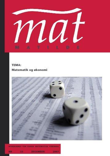 TEMA - Matilde - Dansk Matematisk Forening