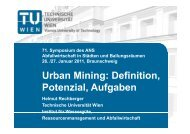 Urban Mining: Definition, Potenzial, Aufgaben - ANS eV