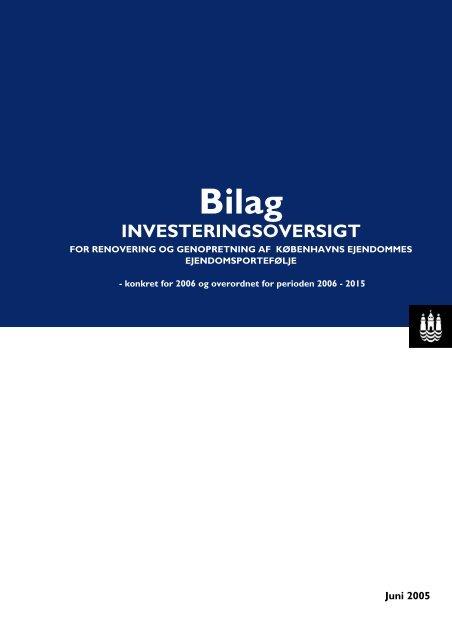 Forside til bilag til endelig rapport 2.6.2005 - Københavns Kommune