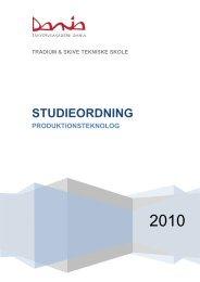 Studieordning 2010-2011 - Dania