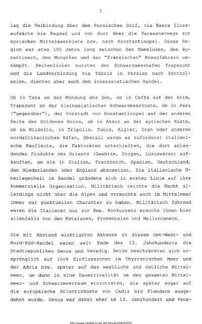Genua und die mediterrane Weltwirtschaft 1261-1350