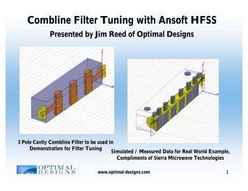 Combline Cavity Filter Design in HFSS