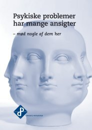 CASES: Psykiske problemer har mange ansigter - Danske Patienter