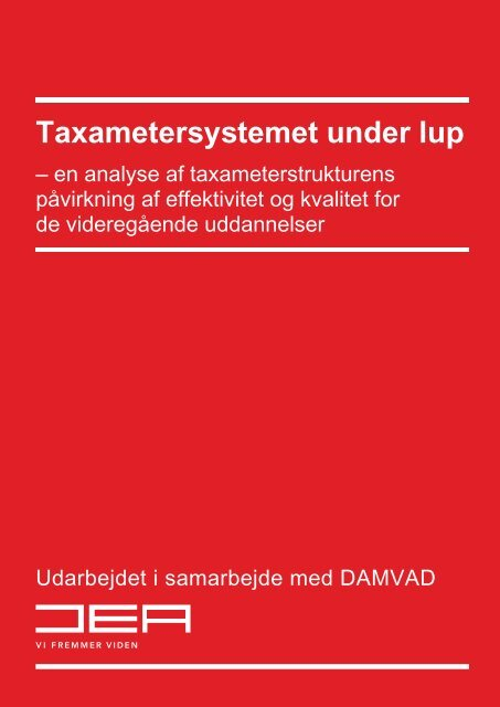 Taxametersystemet under lup - Professionshøjskolerne - University ...
