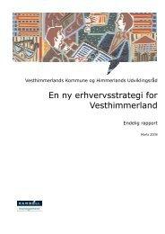 Vesthimmerlands Kommunes erhvervsstrategi