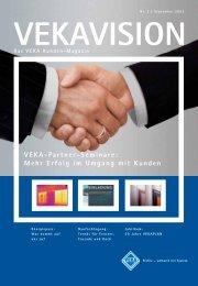 VEKA-Partner-Seminare: Mehr Erfolg im Umgang mit Kunden