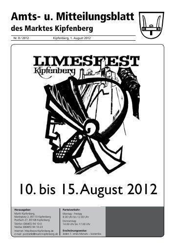 10. bis 15. August 2012