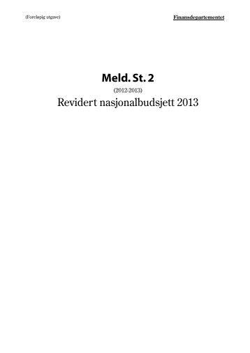 Revidert nasjonalbudsjett 2013 - Statsbudsjettet
