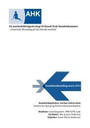 En markedsføringsstrategi til Dansk-Tysk Handelskammer ...