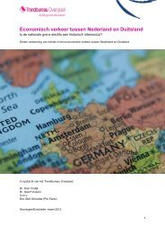 Economisch verkeer tussen Nederland en Duitsland - Trendbureau ...