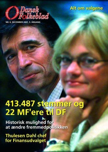 folketingsvalg 2001 - Dansk Folkeparti