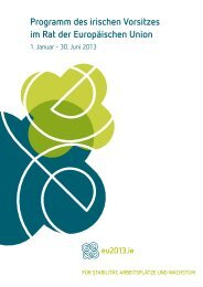 Programm des irischen Vorsitzes im Rat der Europäischen Union
