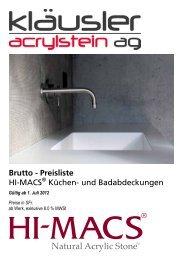 Preisliste H-MACS Küche + Bad 2012