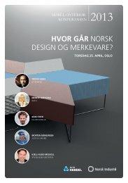 HVOR GÅR NORSK DESIGN OG MERKEVARE? - NHO Handel