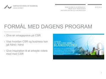 Irene Quist Mortensens præsentation