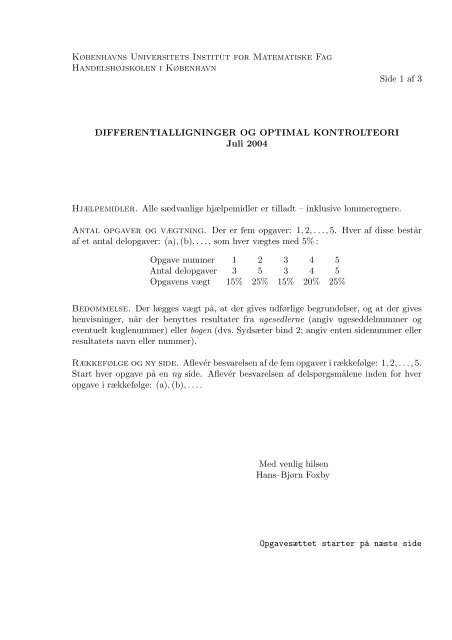 DOK04b - Institut for Matematiske Fag