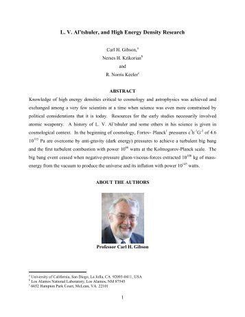 L. V. Al'tshuler, and High Energy Density Research - Journal of ...