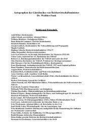 Autographen des Gästebuches von Reichswirtschaftsminister Dr ...
