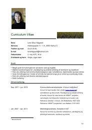Curriculum Vitae - it-forum midtjylland