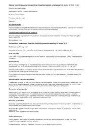 Referat fra ordinær generalforsamling i Roskilde Sejlklub, onsdag ...