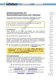 Arbeitsmaterialien Seniorenbetreuung - Marmelade und Kompott