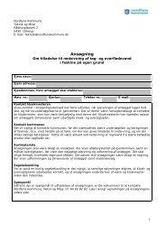 Ansøgning om etablering af faskine - Nordfyns Kommune