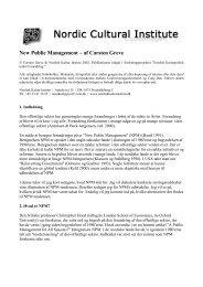 New Public Management – af Carsten Greve - Nordisk Kultur