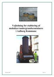 Vejledning for etablering af molokker/undergrundscontainere i ...