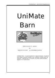 1 Administrativt system for daginstitutioner og ... - Unimate Software