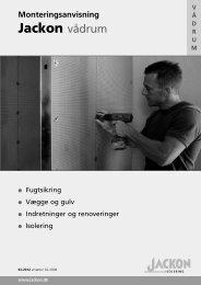 Jackon vådrum montering - jackon.dk