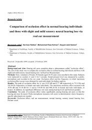 Comparison of occlusion effect in normal hearing individuals and ...