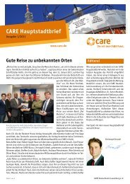 Hauptstadtbrief I/2011 - CARE Deutschland e.V.