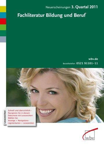 Fachliteratur Bildung und Beruf - W. Bertelsmann Verlag
