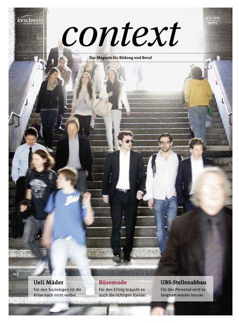 Nr. 4 / April 2010 - Büromode (PDF, 3660 kb) - KV Schweiz