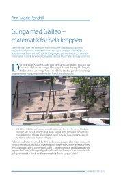 Gunga med Galileo – matematik för hela kroppen
