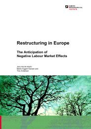 Restructuring in Europe - Danish Technological Institute