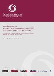 Private Equity im deutschen Mittelstand - Europäische Akademie für ...