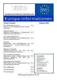 Ausgabe Nr. 110, Oktober 2005 - Evangelische Kirche in Deutschland