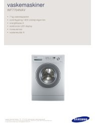 vaskemaskiner - Samsung