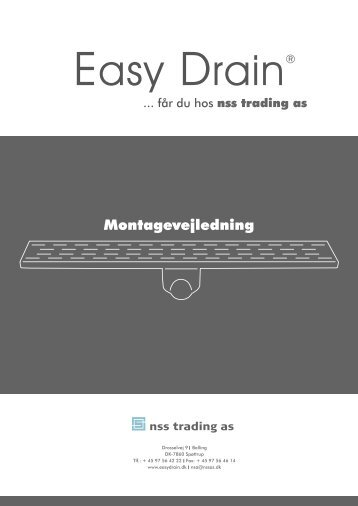 Montagevejledning - Easy Drain