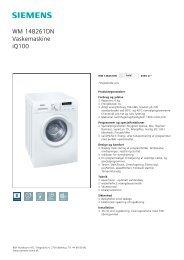 Siemens WM 14B261DN