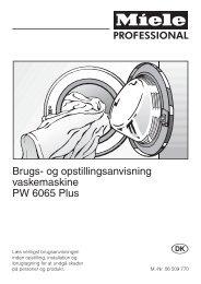 Brugsanvisning Miele vaskemaskine - Bredalsparken