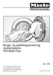 Vaskemaskine PW6065Plus - Ejerforeningen Emdrupvej 12-20 ...