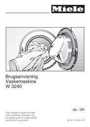 Brugsanvisning Vaskemaskine W 3240 - Miele Danmark