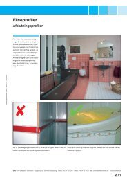 99921 011 DNK Katalog byggematerialer · Fliseprofiler 05/2006